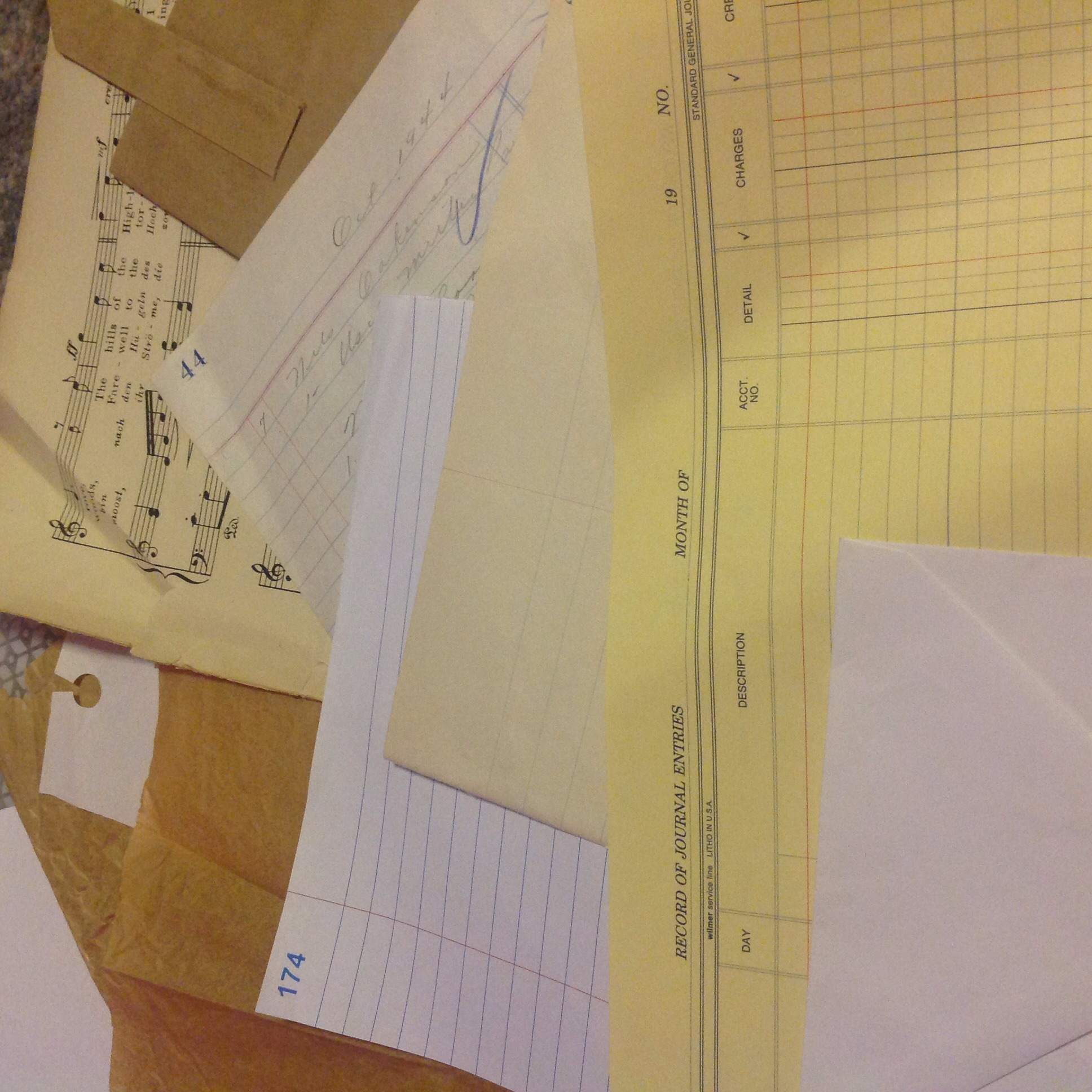 A few choice sheets of hoarded paper