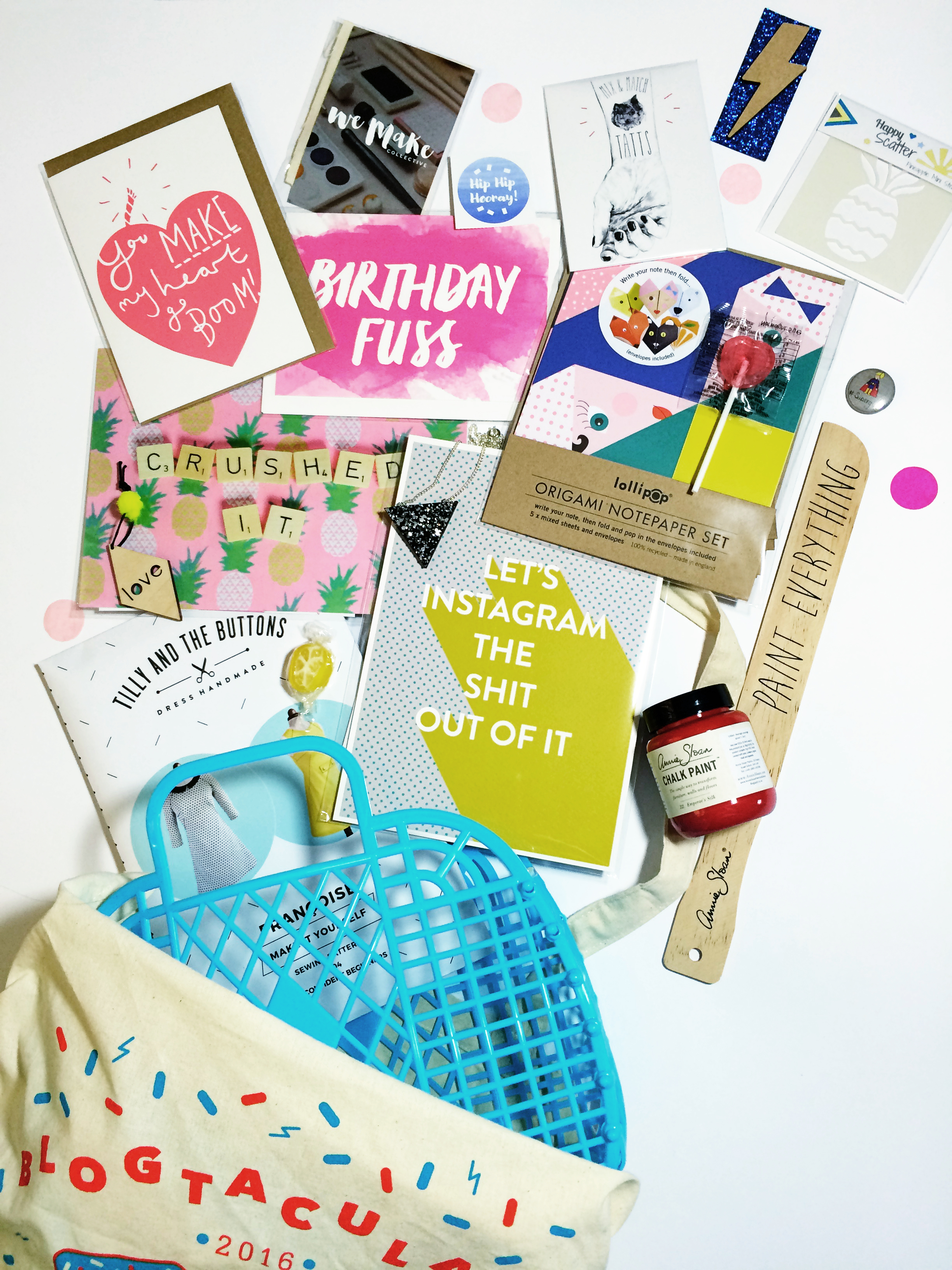 A peek into my 2016 Blogtacular goody bag