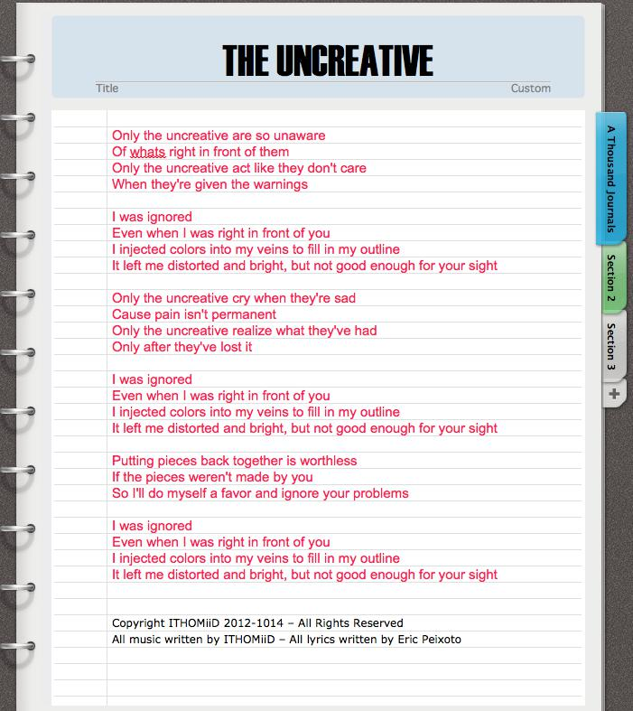 the uncreative