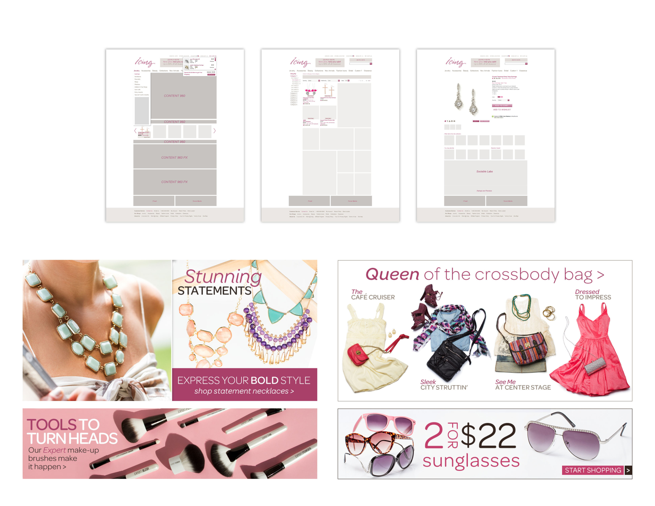 Icing - Website Restructure: Design, Photography