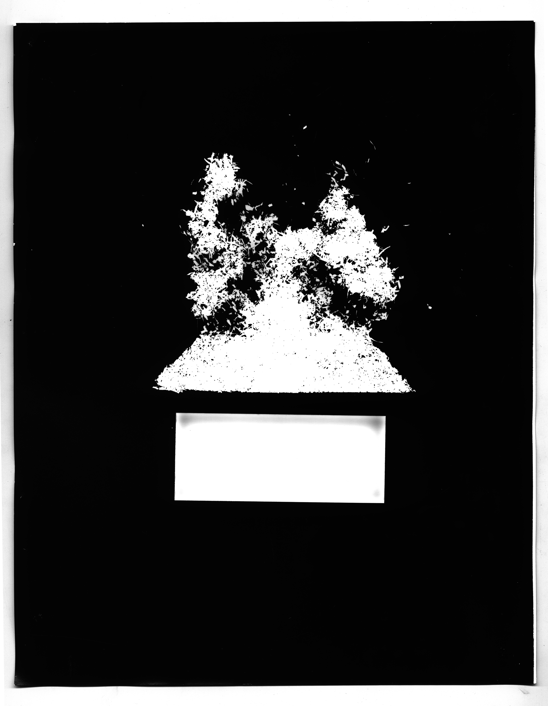 House on Fire - 11 x 14 Silver Gelatin Print
