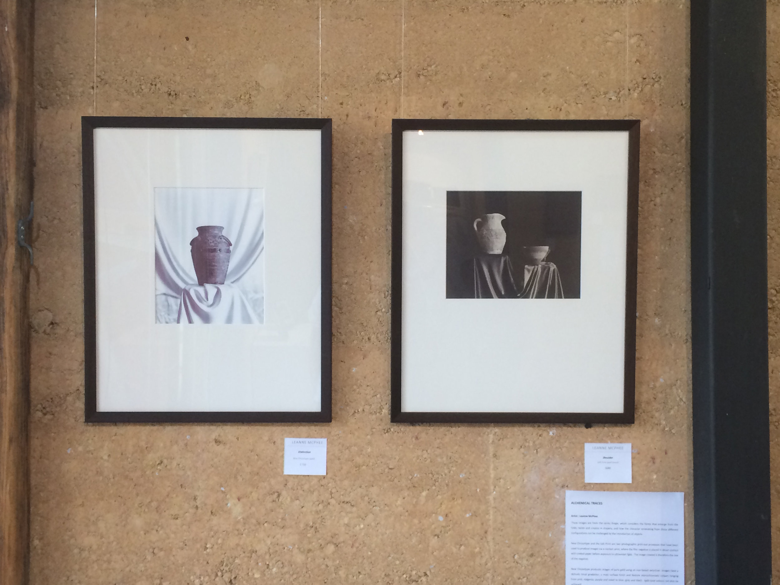 Distinction (chrysotype print) and Intermediary (salt print) from the series 'Drape'