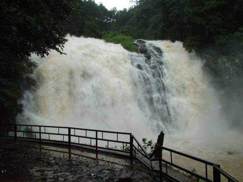 Waterfall in its full form during monsoons