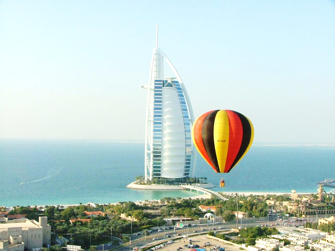 Hot Air  Balloon over Dubai