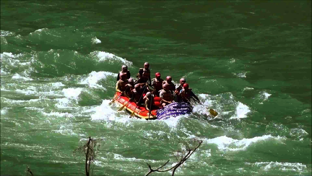 White water rafting in Rishikesh is one of the best in India