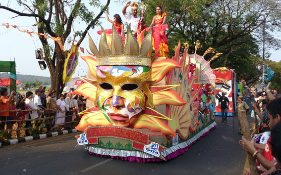 Beautiful Parade during the festival