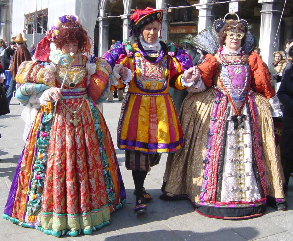 Gorgeous costumes to be seen during the carnival