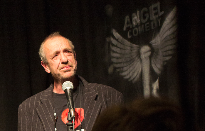 Comedian Arthur Smith wows the crowd at the free Angel Comedy Club Image Credit: Momondo.com