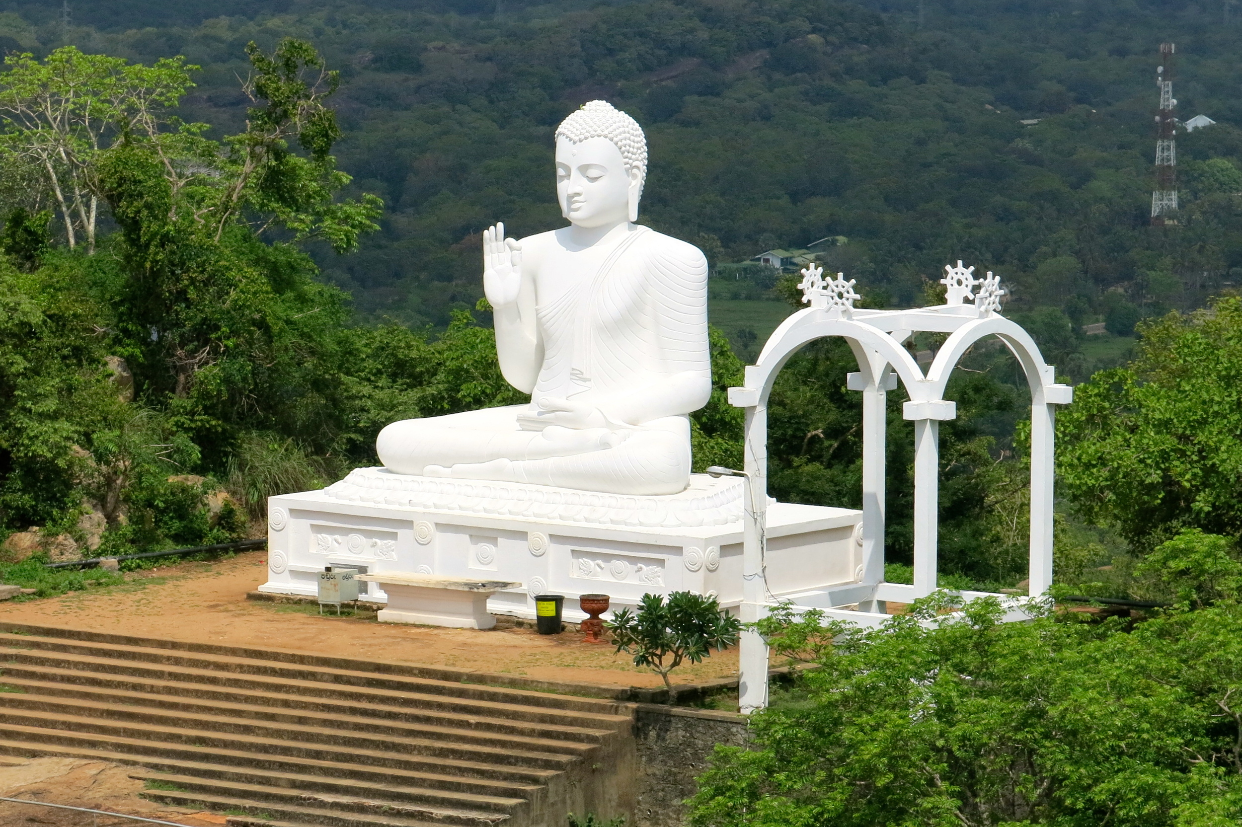 Sacred Buddha at the mountain of Mihintale Image Credit:isthistoospicy.com