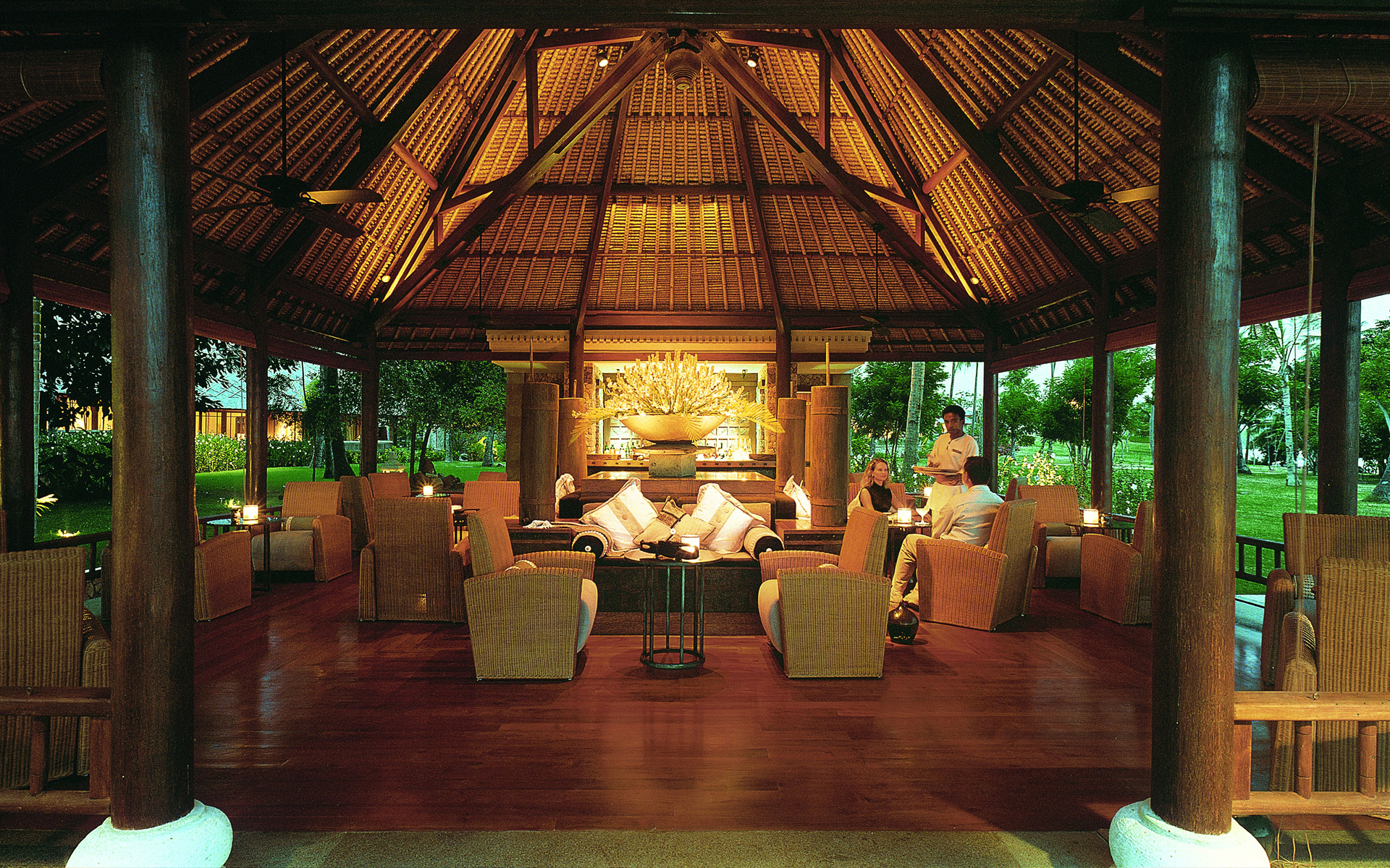 Dining area Image Credit: The Oberoi, Lombok