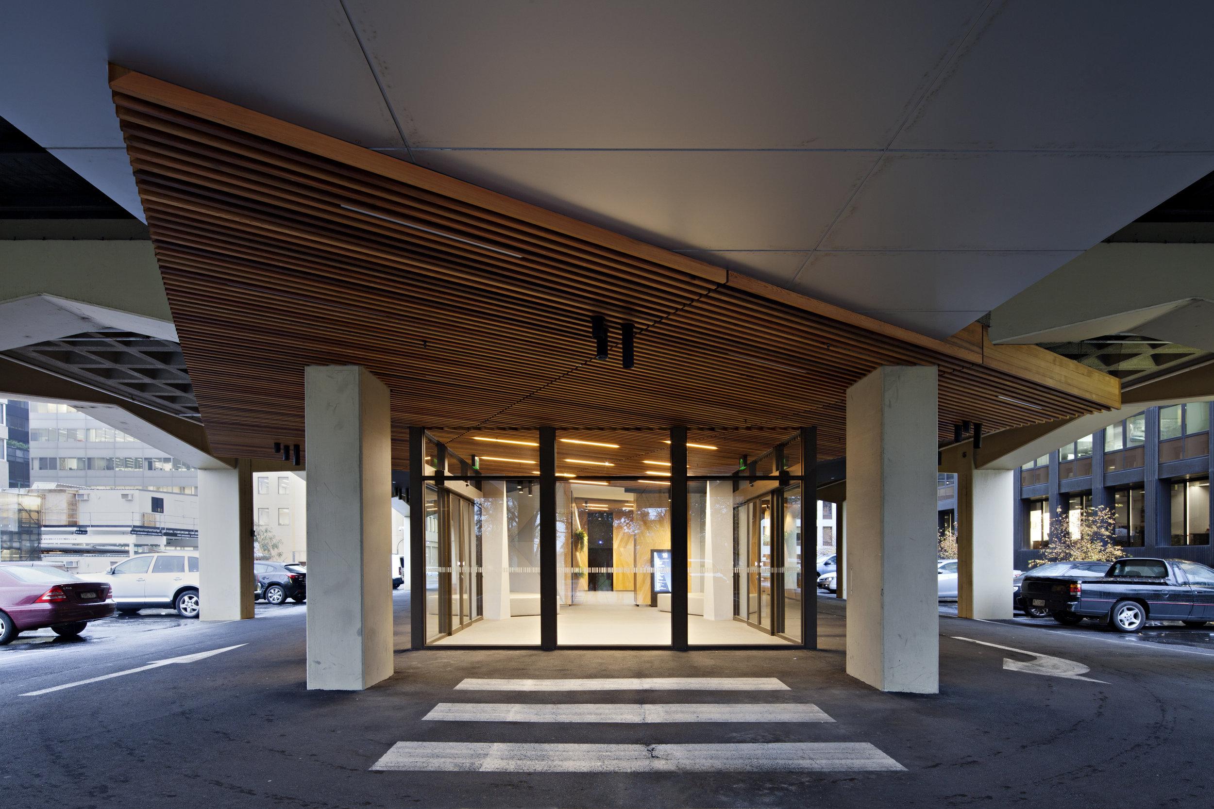 10 Queens Road Lobby Entrance - Design
