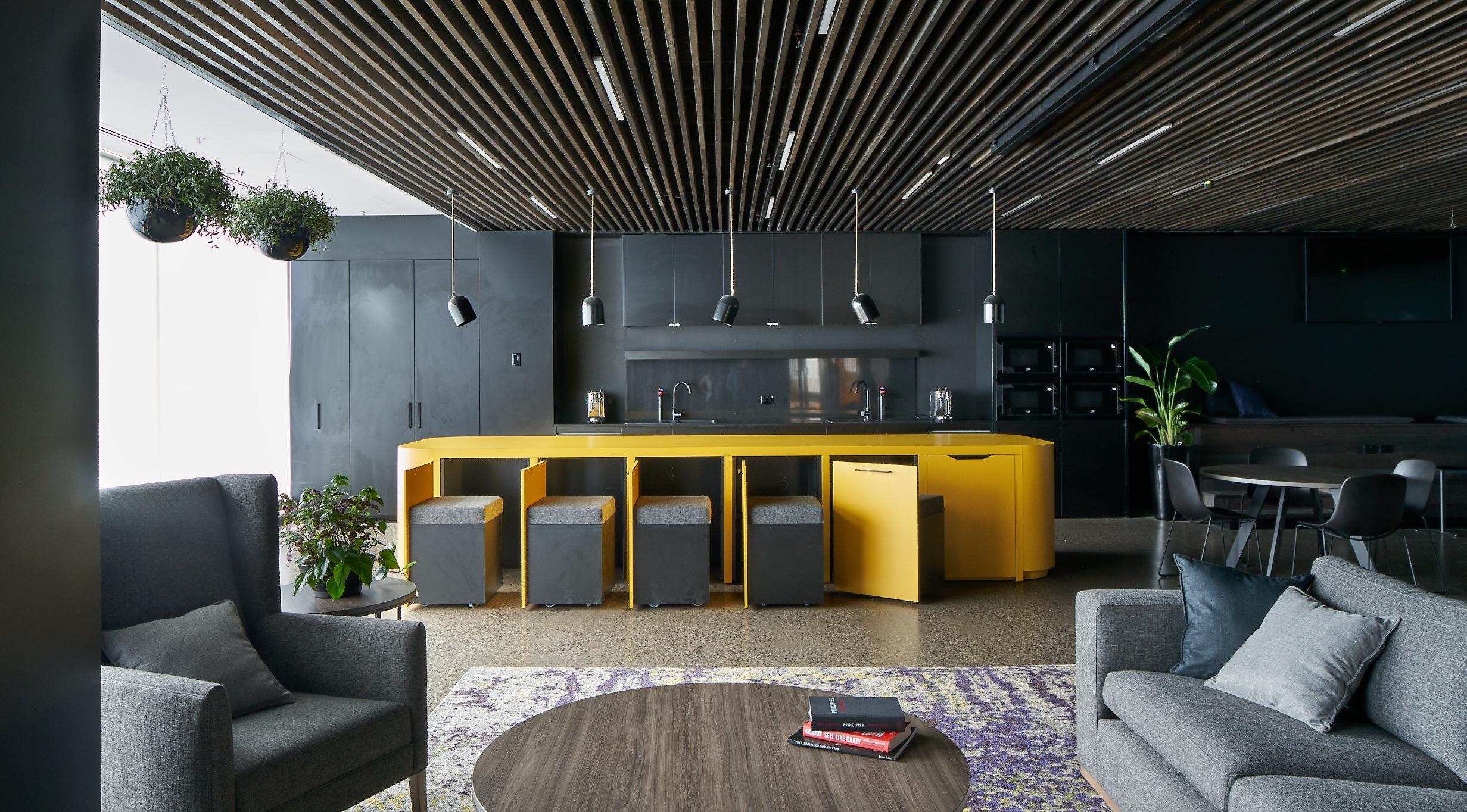 Betfair Kitchen and Lounge Interior Design Island Open