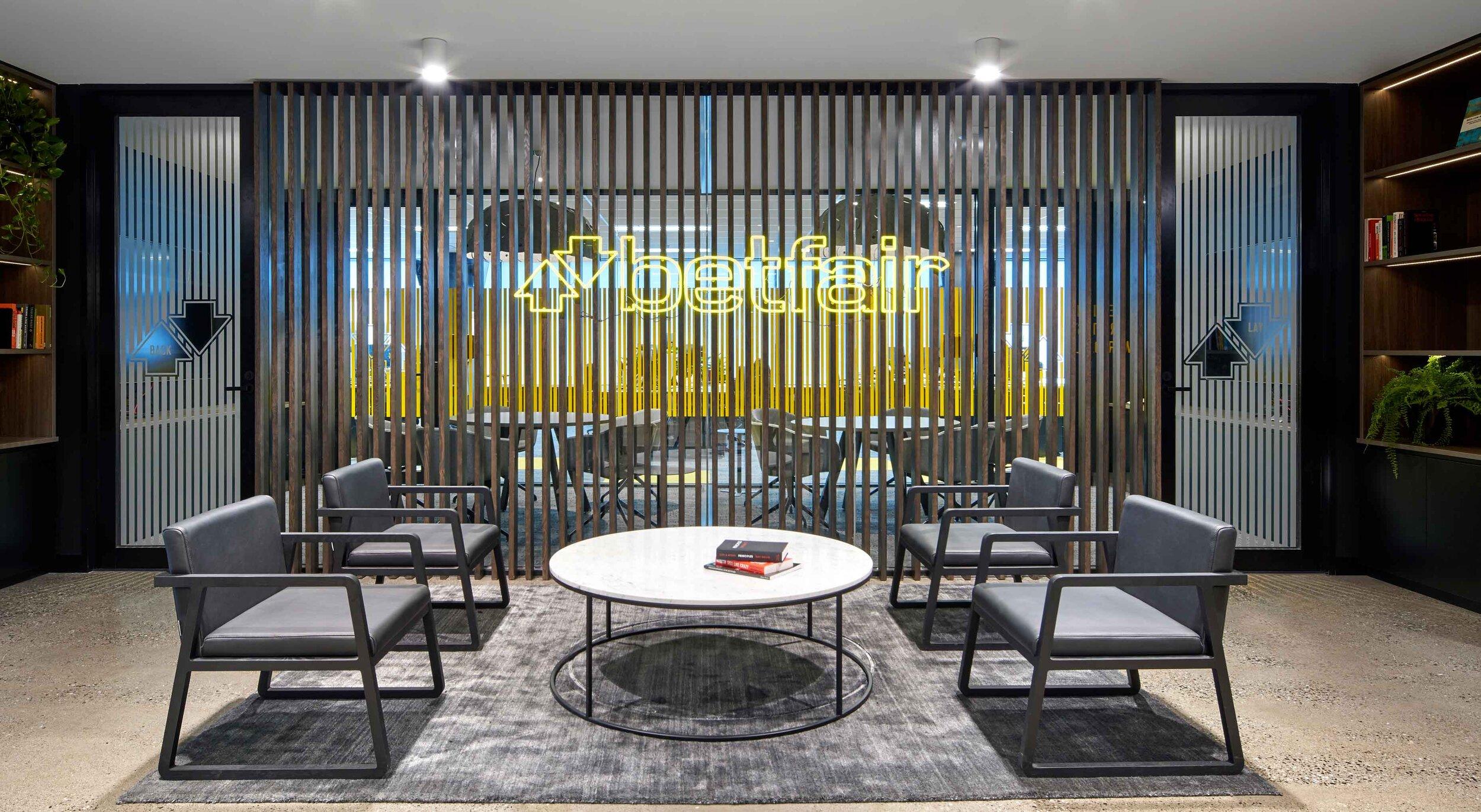 Betfair Head Office Entrance Interior Design