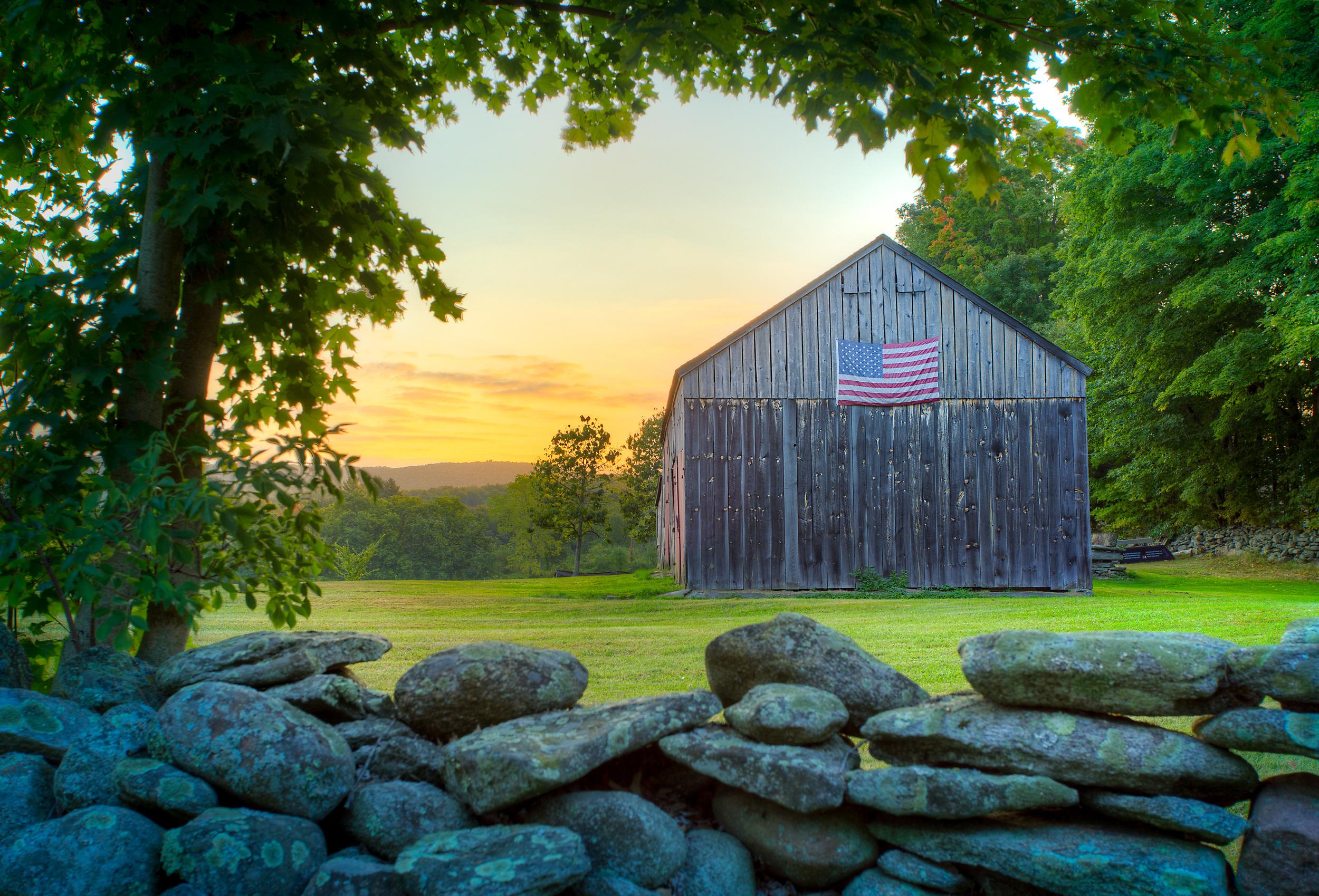 American Flag Sunrise
