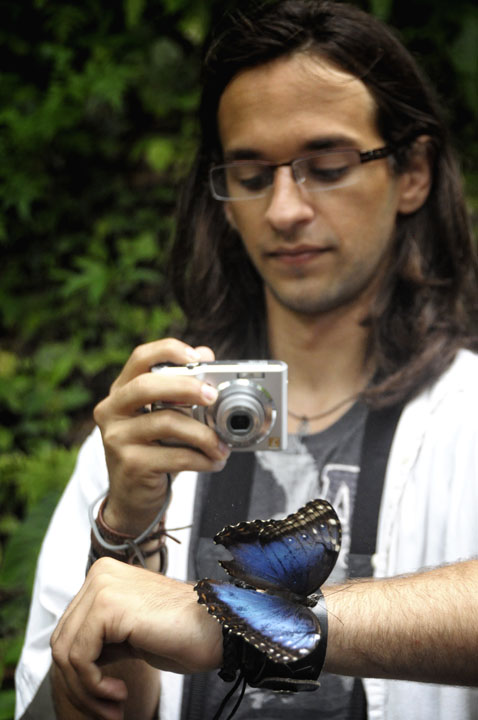 Luis with Morpho Buttherfly