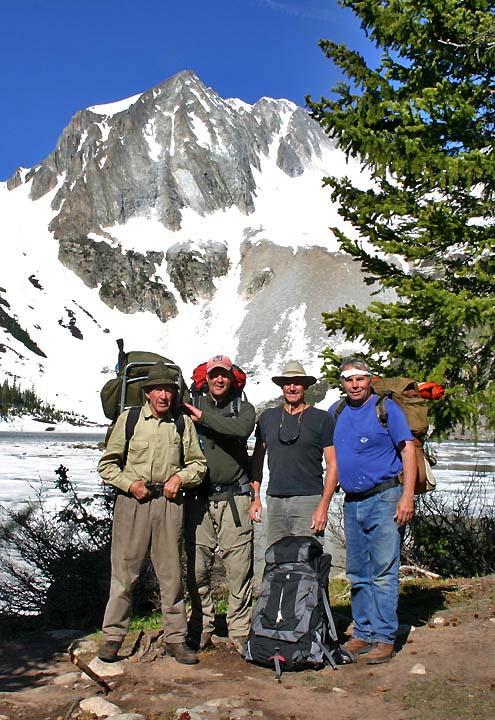 Charlie, Clark, Roger & I, Snowmass Lake