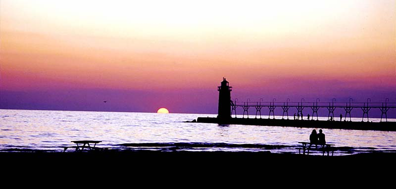 South Haven Lighthouse Sunset