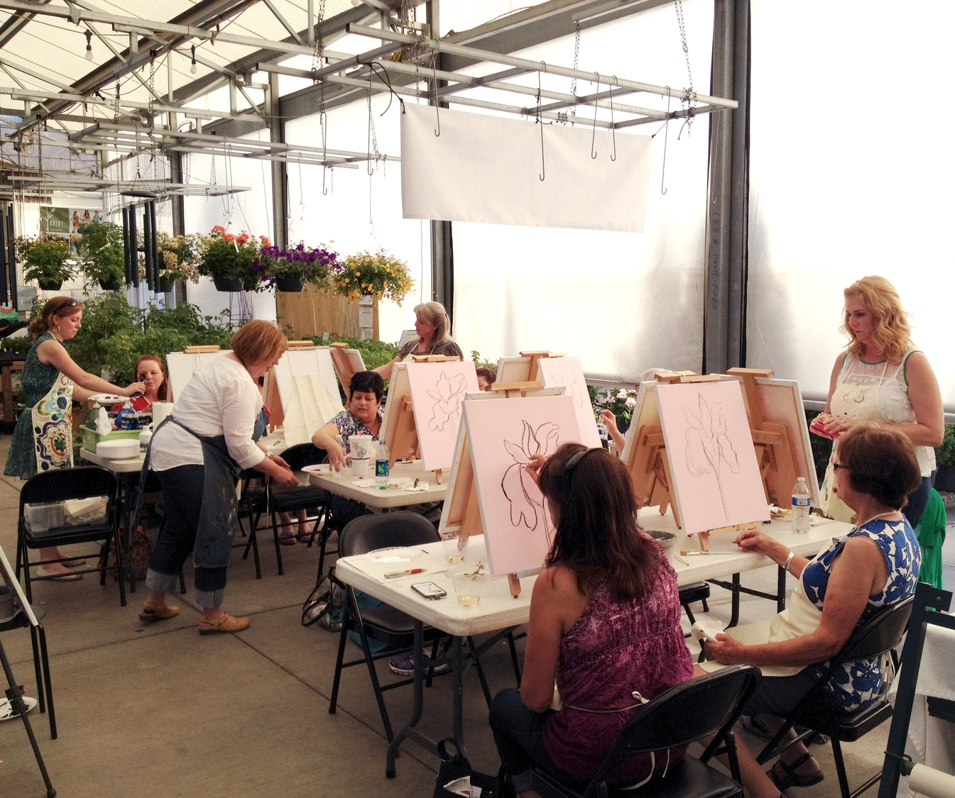 Last spring's Painting pARTy