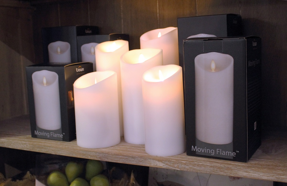 "Winter is candle season! From aromatic seasonal fragrances to ultra-safe electronic tapers and pillars that look just like the real thing, our selection of candles reflects the ""warmth of the season!"""