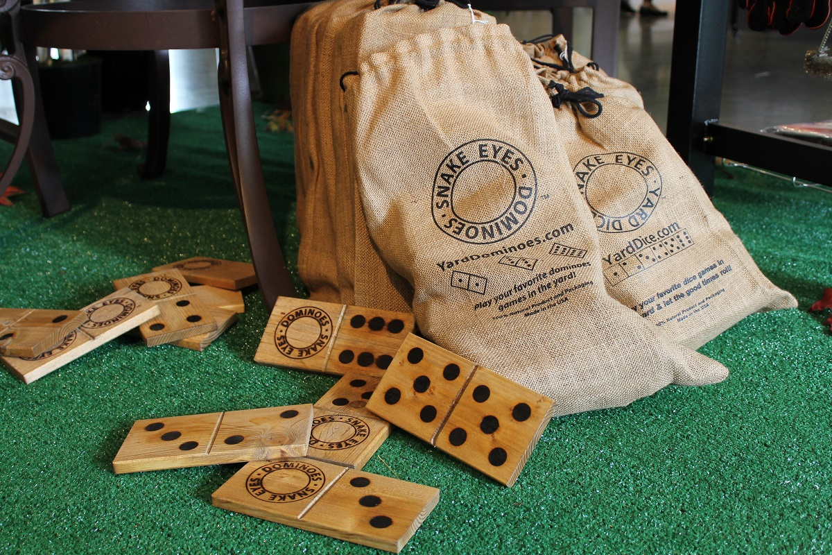 Oh what fun it is to play outside with giant yard dice or dominoes. Great fun for the family, these solid wood yard toys are handmade in the USA.