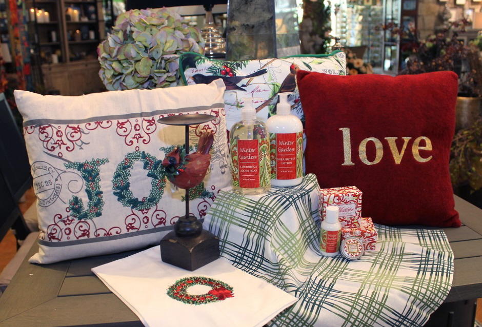 "Seasonal linens are a quick way to get a ""holiday home makeover"" Choose from hand towels, pillows, placemats and runners to put a little holiday spirit in your home."