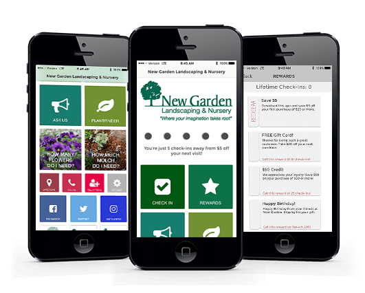 Download the free New Garden app from iTunes or the Google Play Store
