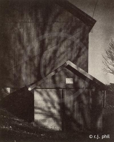 Farm Series - Barn - Gold Toned Van Dyke print