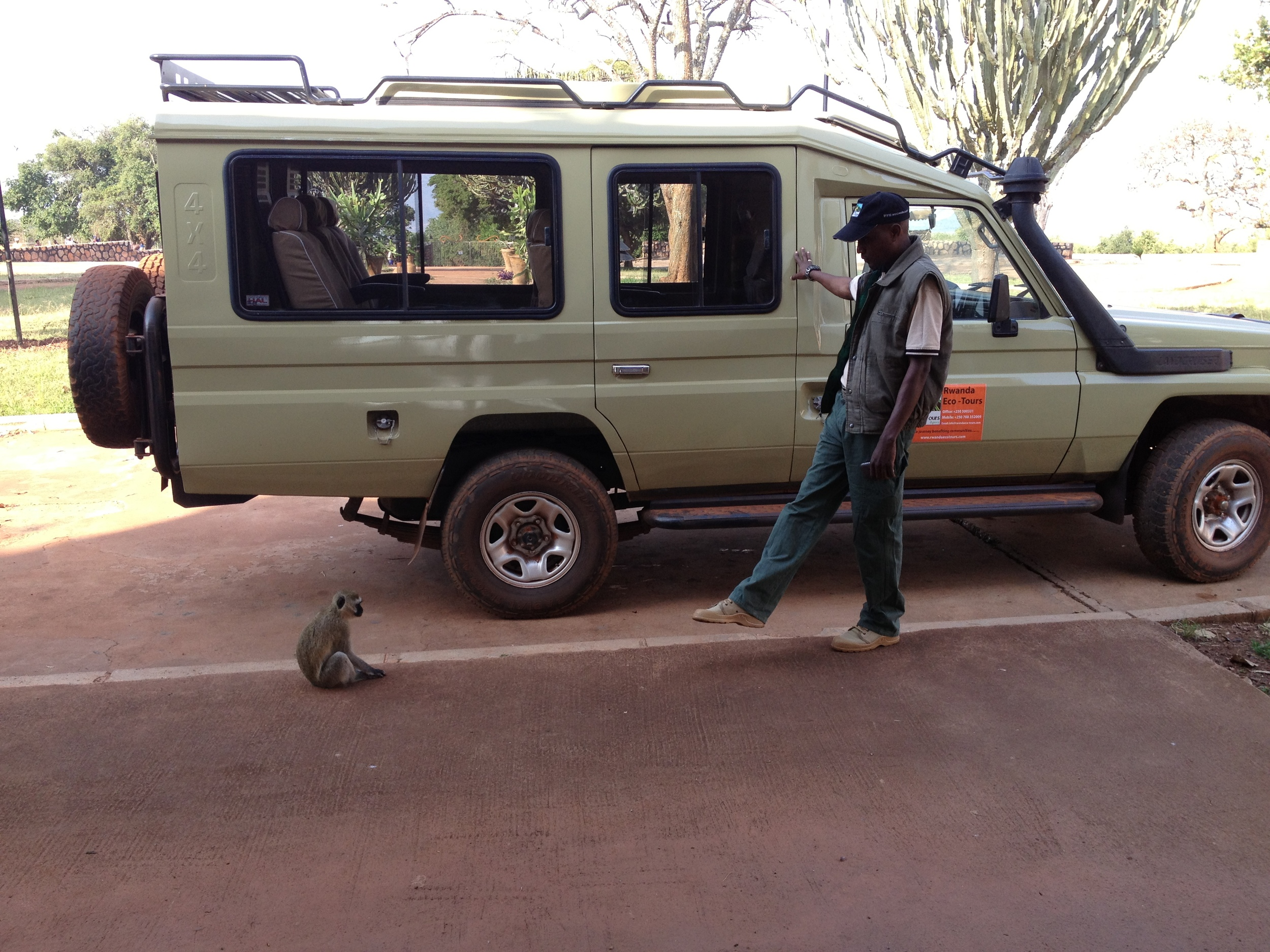 Our guide Yasin keeps unwanted company from joining us for our journey.