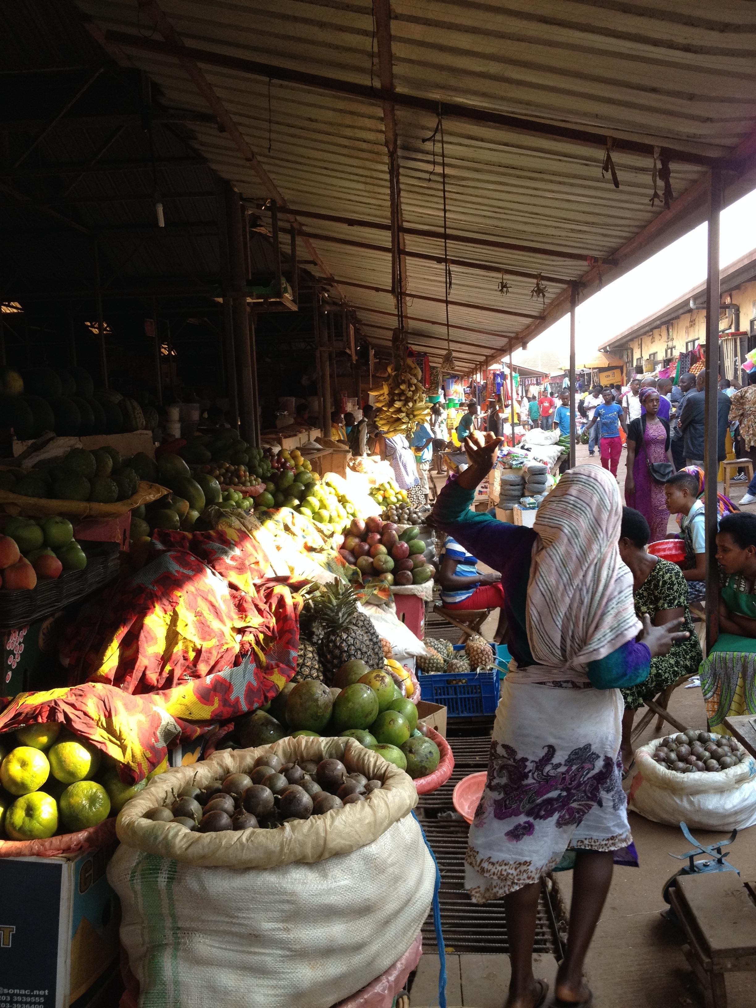 Kimironko day market in Kigali. The original farm to table.