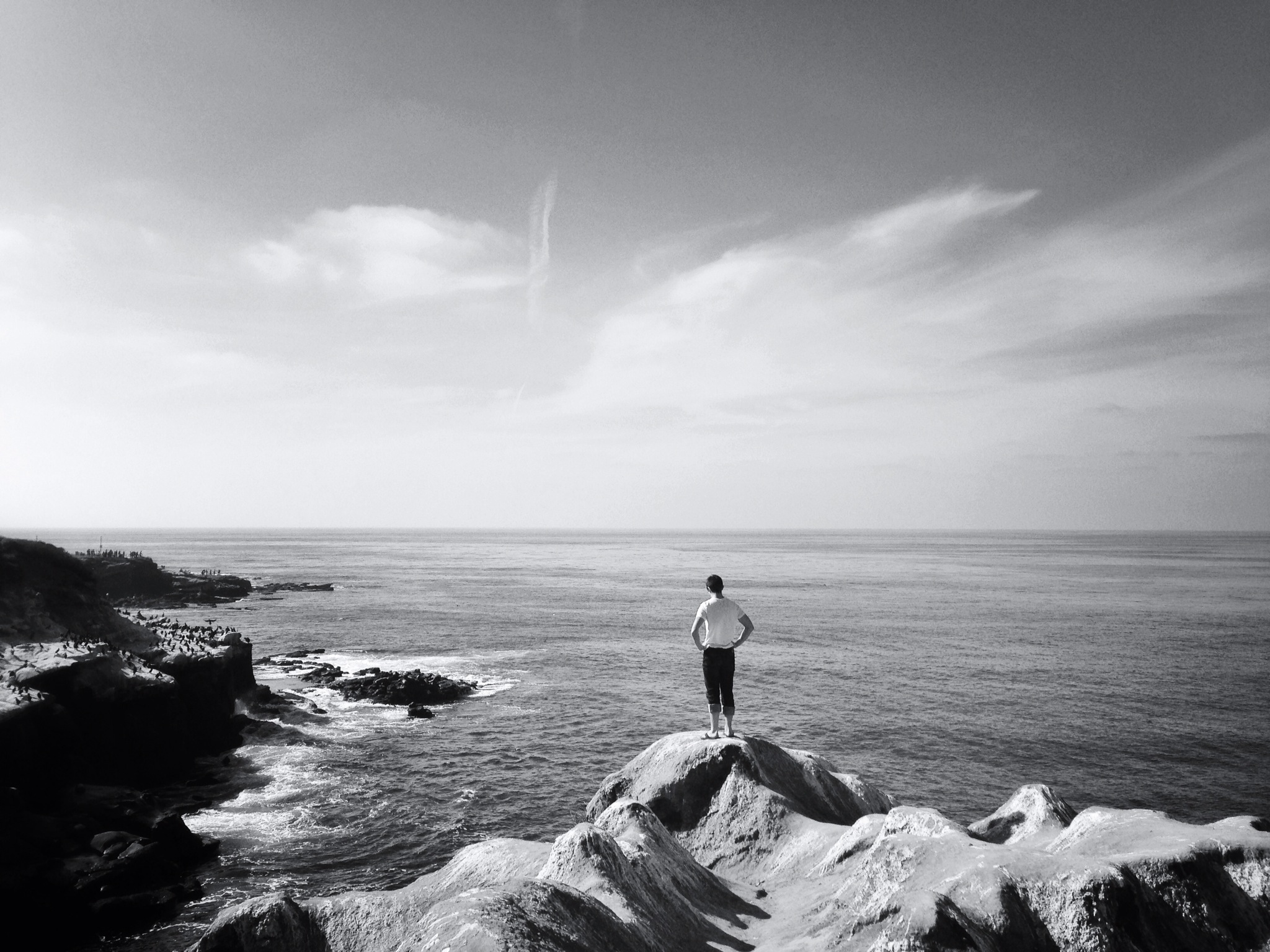 One of my longest living friends, Trey Hester, on top of La Jolla Cove