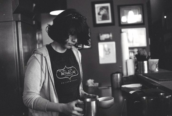 Oh I'm about to pour a latte. *photo by David Herron*