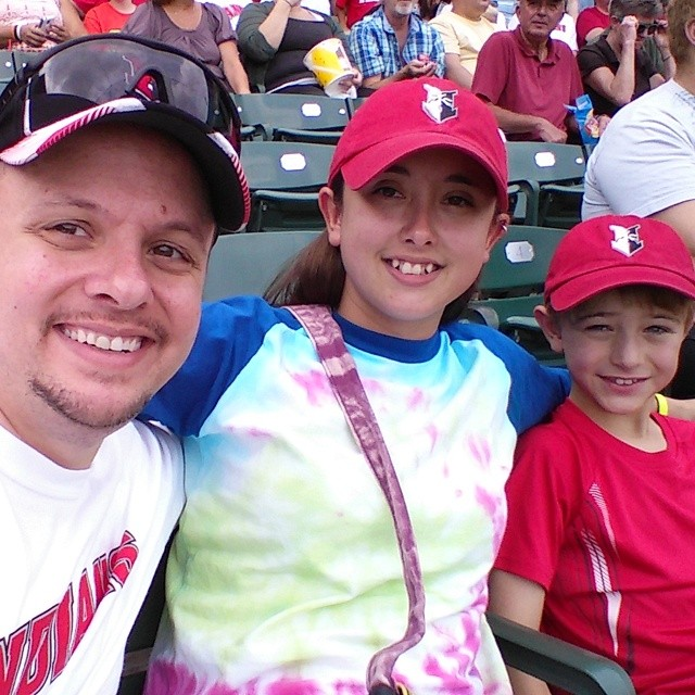 Enjoying an Indians game with Landon. #gildanfavorites