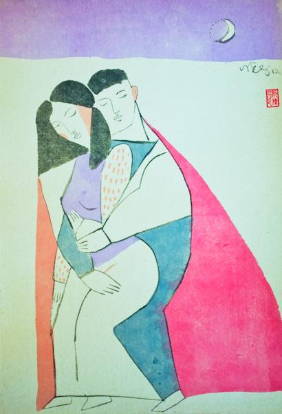 Tenderness by Night,  70 x 50 cm