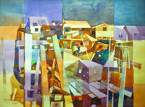 Village Jetty, 56 x 76 cm