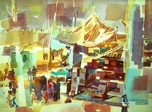 Hunan Market, 56 x 76 cm