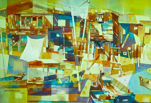 Riverside Breeze, 56 x 76 cm