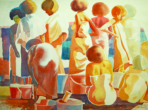 Washing and Bathing III,  56 x 76 cm