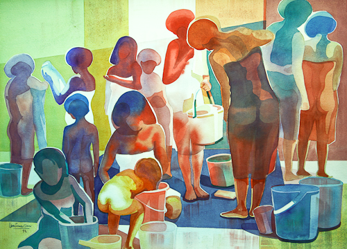 Washing and Bathing II,  56 x 76 cm