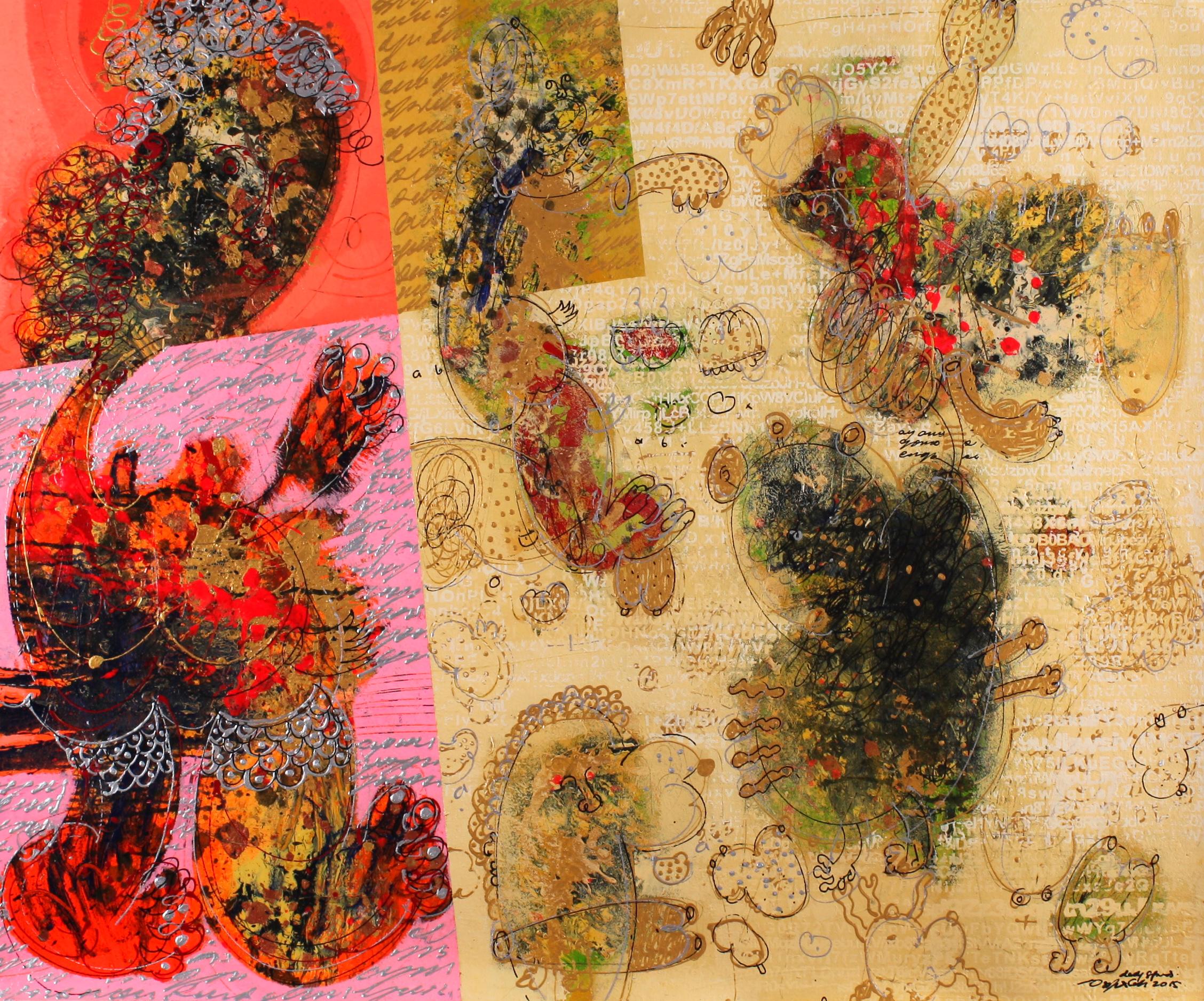 Dedy SUFRIADI,  Guernica  , 2015, Mixed media on canvas, 100 x 120 cm