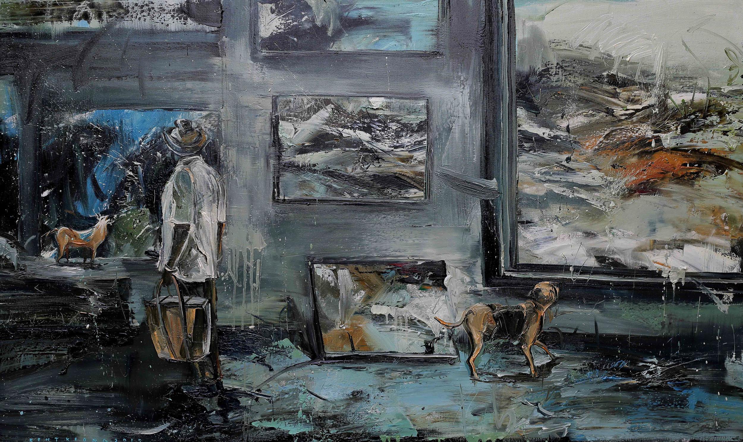 The Collector |美術館, 2015, 97 x 162 cm