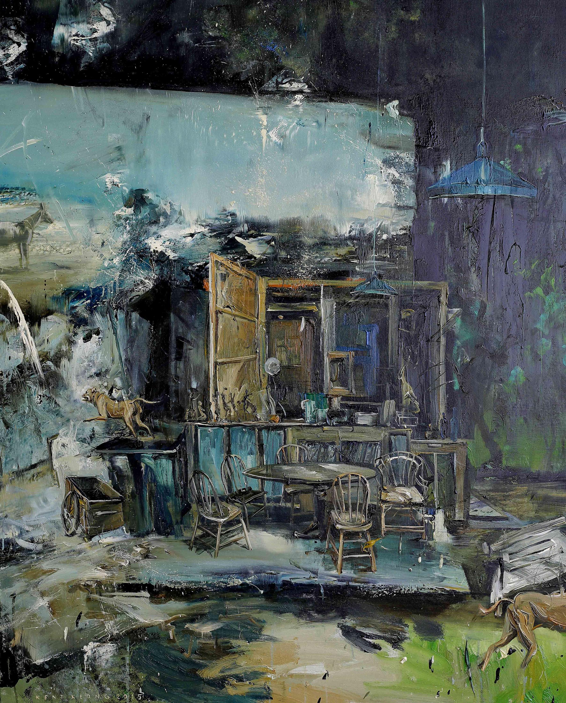 Café |咖啡廳, 2015, 162 x 130 cm