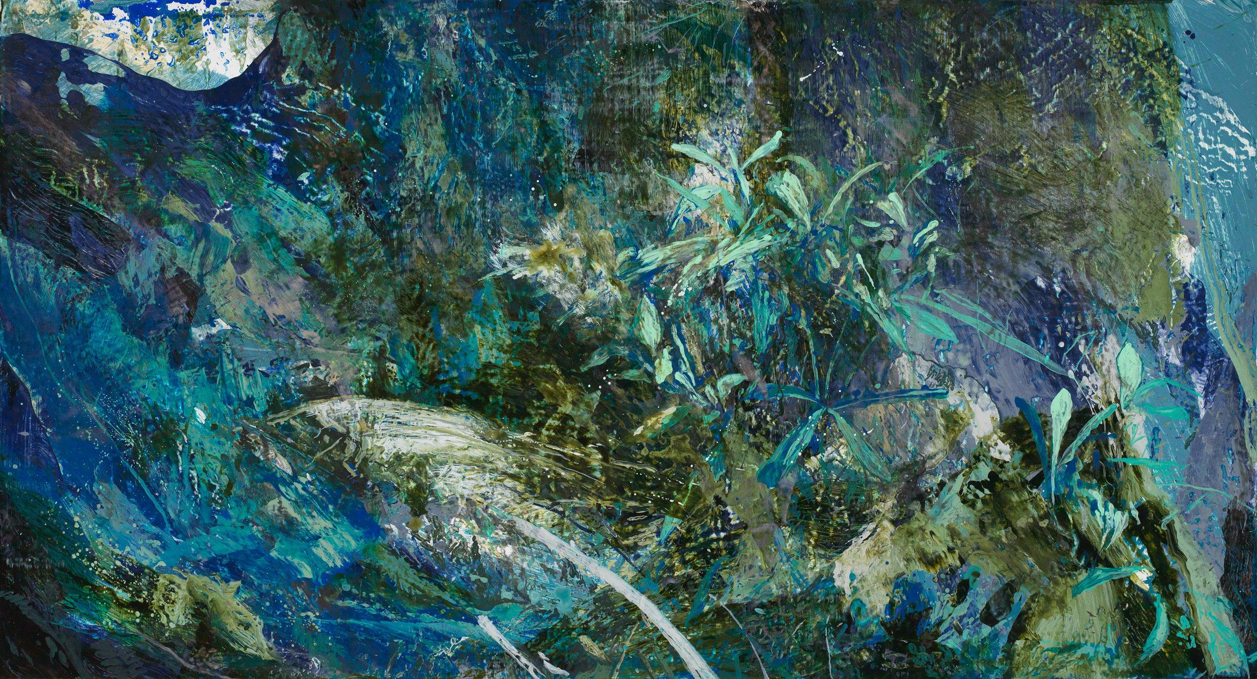 Forest #9 | 森林#9, 2016, Acrylic on Canvas, 80 x 150 cm, SHIU Sheng Hung | 許聖泓 , Image 1/2