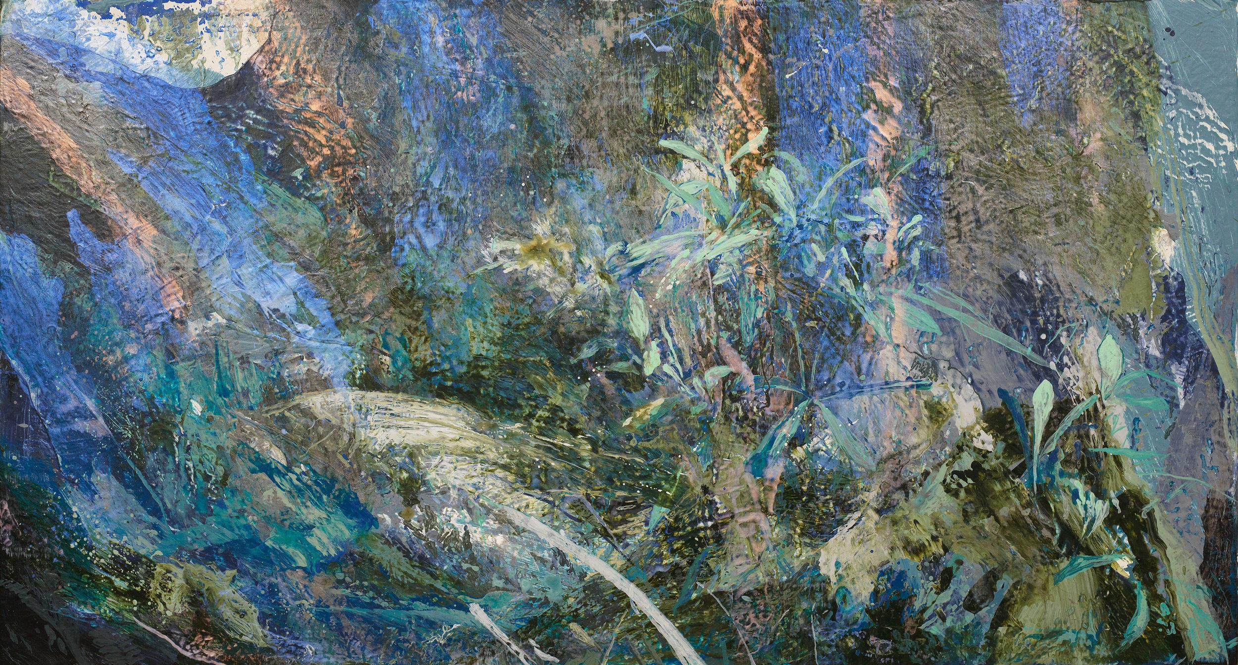 Forest #9 | 森林#9, 2016, Acrylic on Canvas, 80 x 150 cm, SHIU Sheng Hung | 許聖泓 , Image 2/2