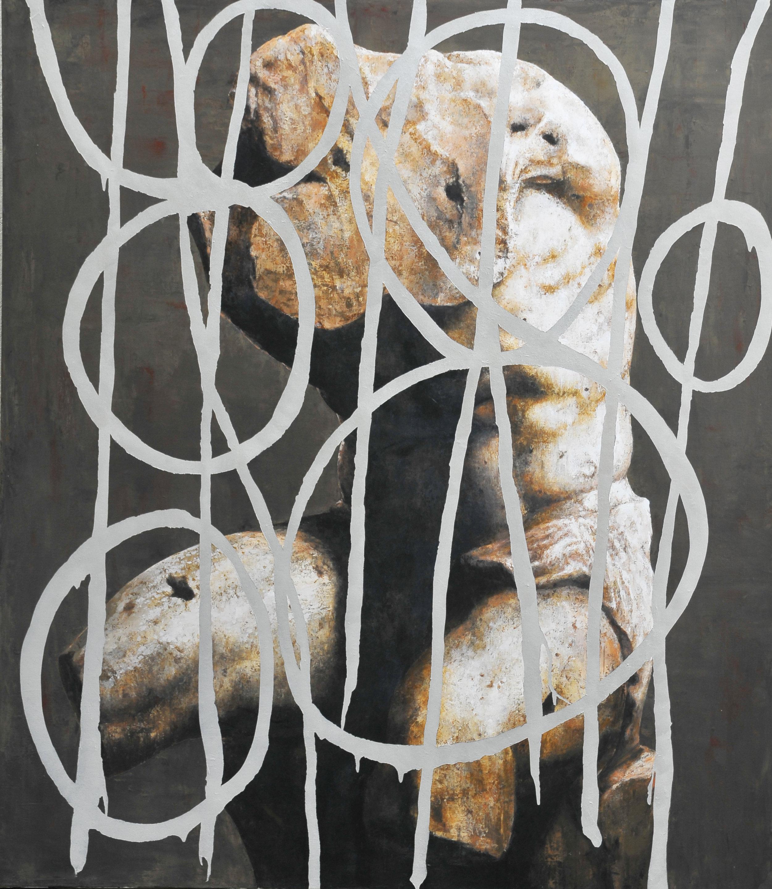 Torso #5 , 2015, Acrylic on Canvas, 160 x 140 cm