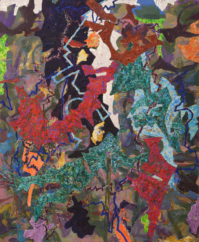 A Porous Spring , 2017, Oil on Canvas, 150 x 125 cm