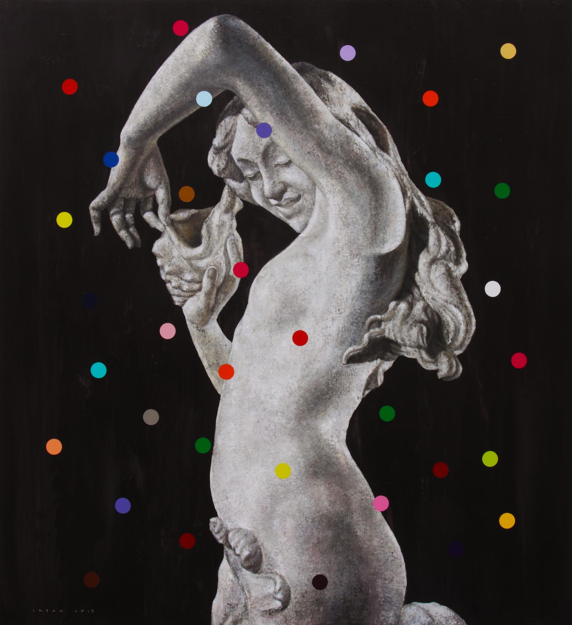 #20 Aphrodite , 2017, Acrylic on Canvas, 120 x 110 cm