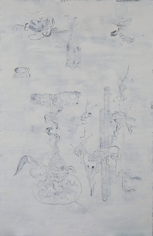 Autumn Emotion #2, 2017, Oil and Acrylic on Canvas, 140 x 90 cm, HA Manh Thang