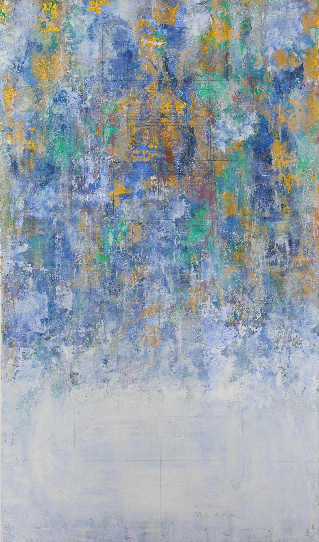 The Lake At Changing Season #7, 2017, Oil and Acrylic on Canvas, 116 x 68 cm,HA Manh Thang