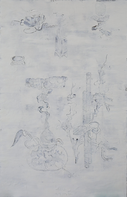 HA Manh Thang, Autumn Inspiration #2, 2017, Oil and Acrylic on Canvas, 140 x 90 cm
