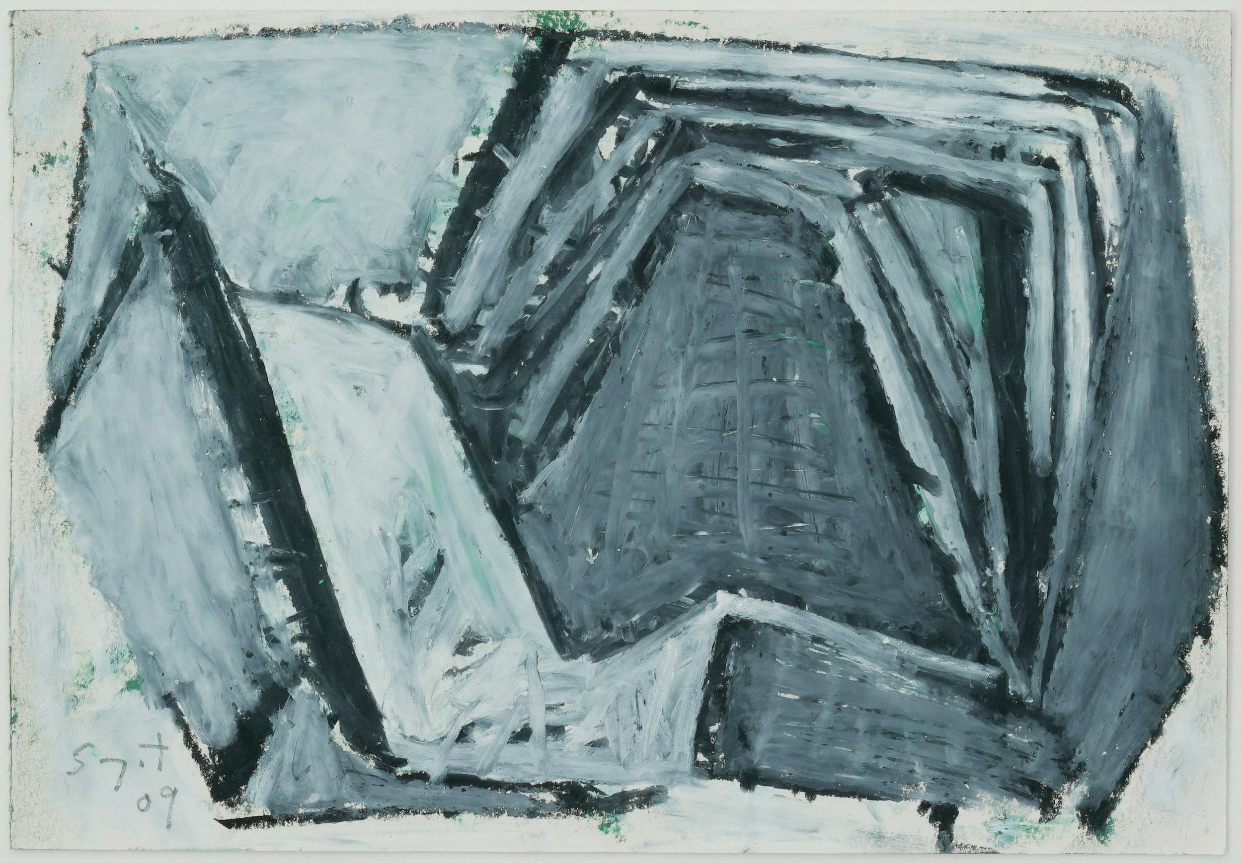 Somyot Hananuntasuk, #26, 2018, Oil Pastel on Paper, 18 x 26 cm, Affinity Ar